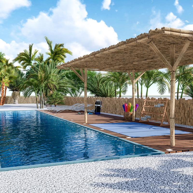 Pool   Isla penthouse & garden apartments